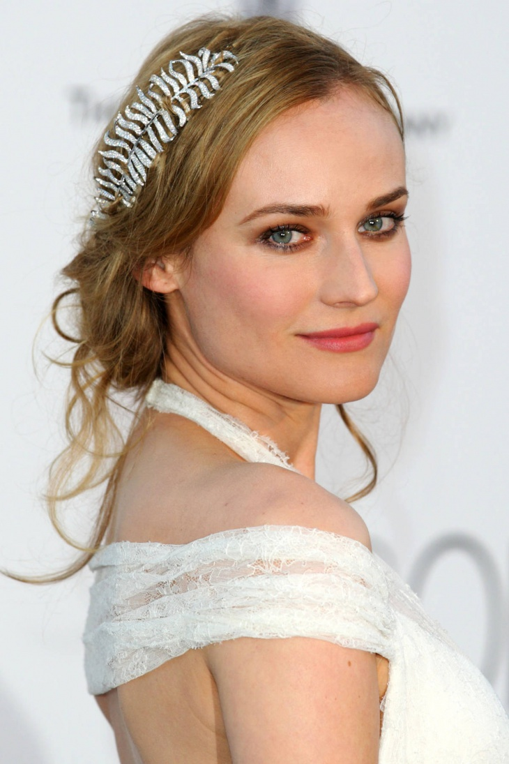 Diane Kruger Princess Wedding Hairstyle