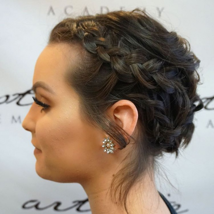 side bohemian hairstyle