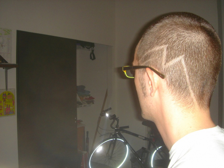 buzz side designed haircut