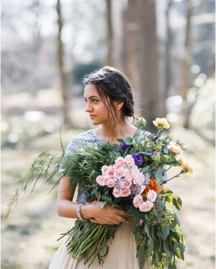Bohemian Hairstyle for Wedding