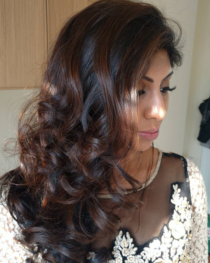 Bridal Swept Loose Curls