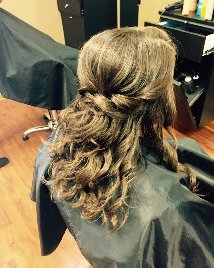 bohemian waterfall hairstyle