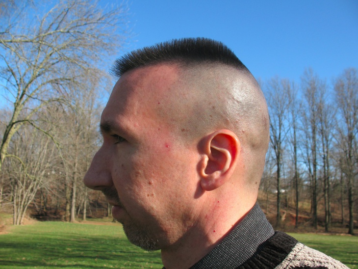 side shaved buzz hairstyle