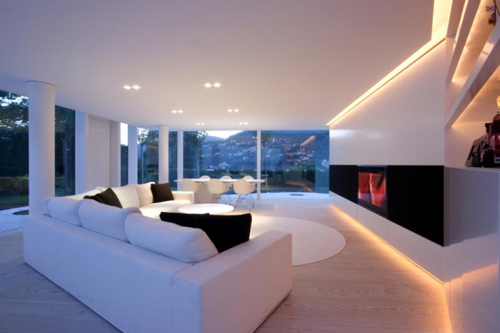 white living room ceiling lights