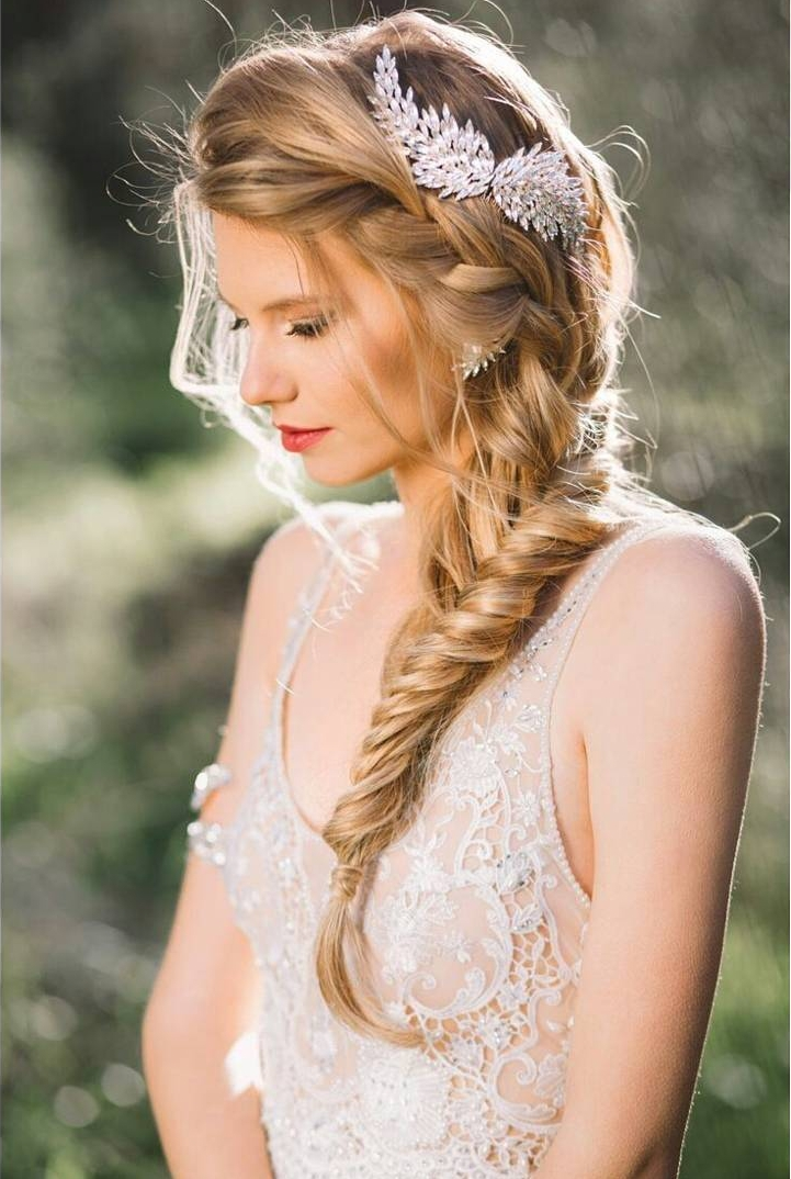 Side Fishtail Braid Hairstyle