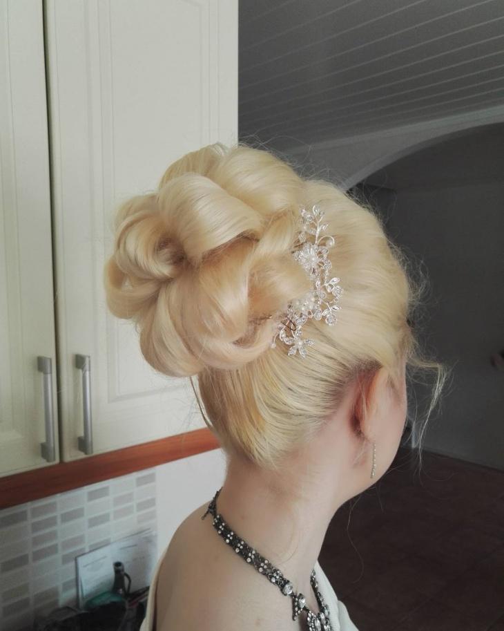 twist wedding hairstyle