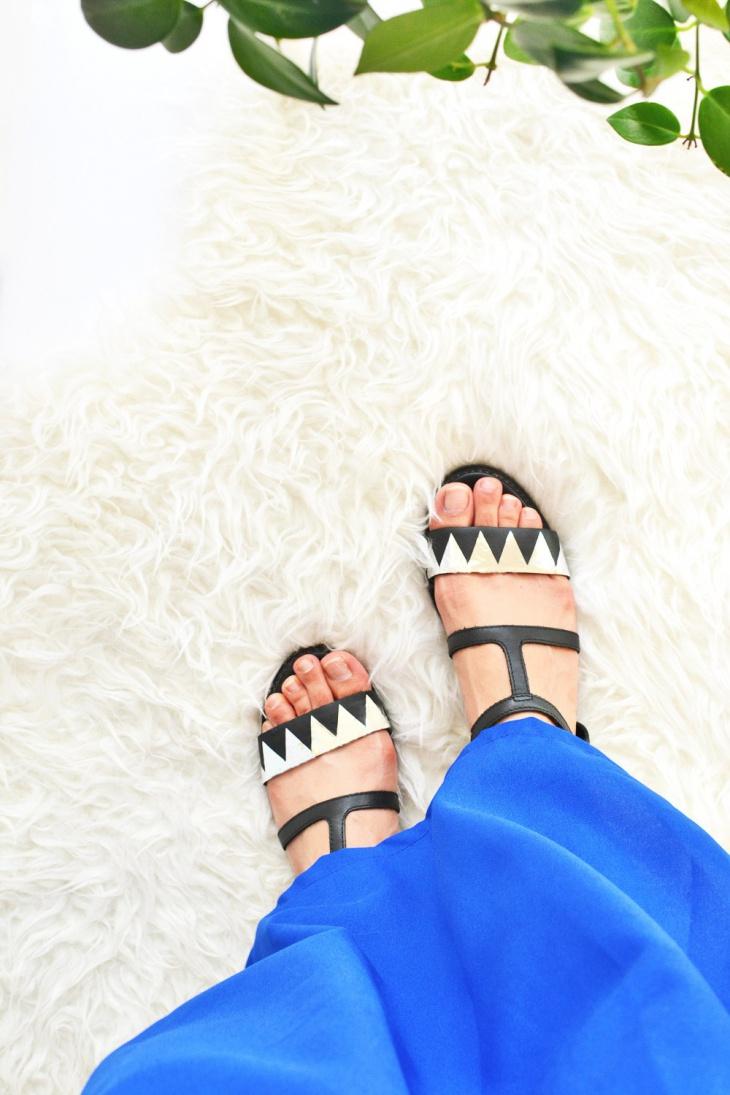 DIY-metallic-sandals