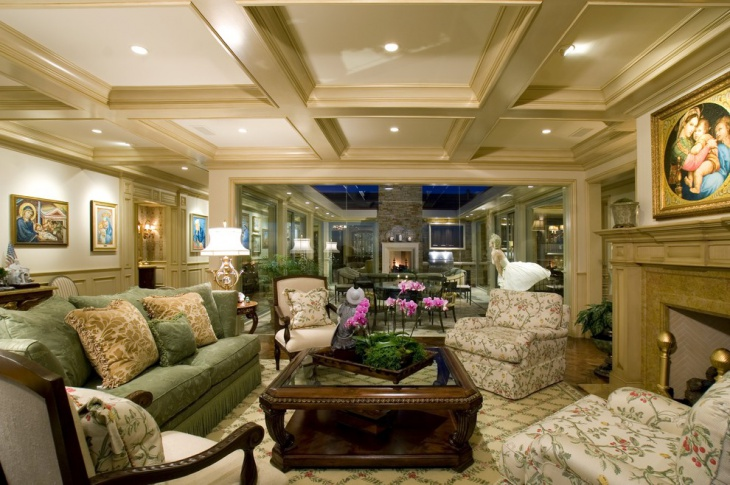 traditional living room design idea
