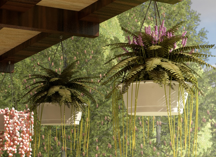 Ideas to include greenery at home design trends for Hanging flower pots ideas