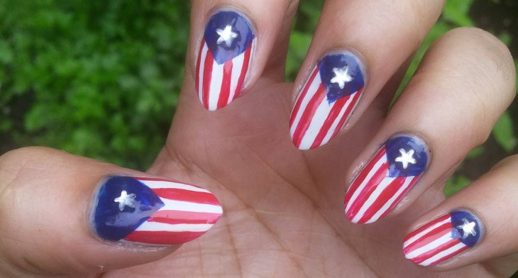img - 21+ American Flag Nail Art Designs, Ideas Design Trends - Premium