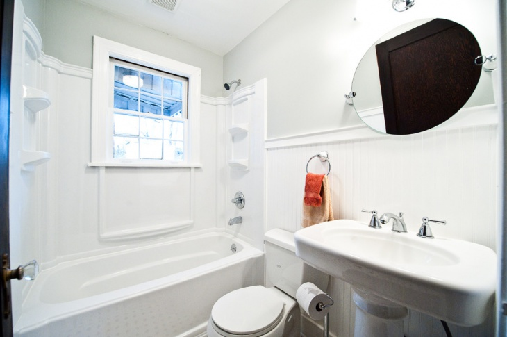 small white traditional bathroom