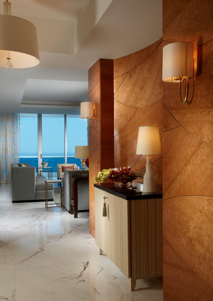 Rustic ambience Modern Interior Hallway Designs