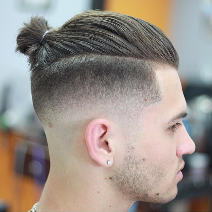 mens top knot hairstyle
