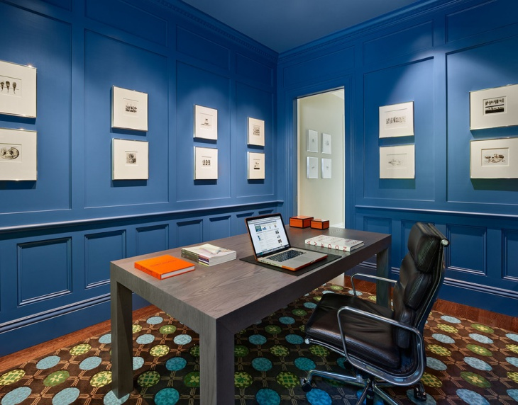 Admirable 21 Blue Home Office Designs Decorating Ideas Design Trends Largest Home Design Picture Inspirations Pitcheantrous