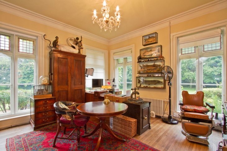 Retro Style Office with Victorian Look
