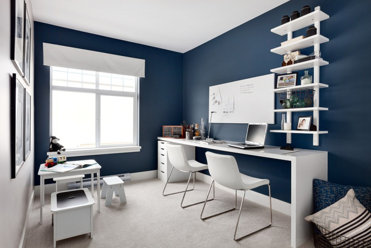 21 Blue Home Office Designs Decorating Ideas Design Trends