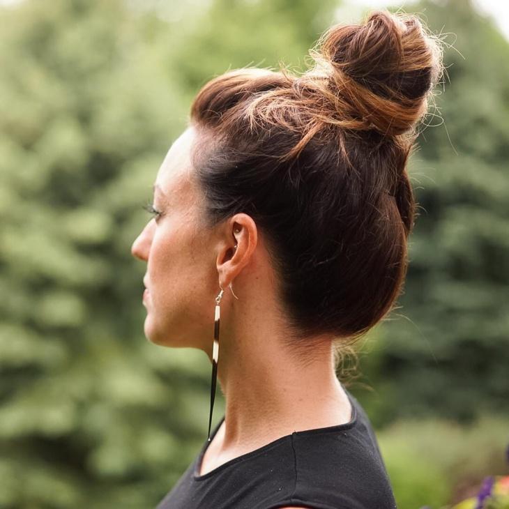 high bun for natural hair