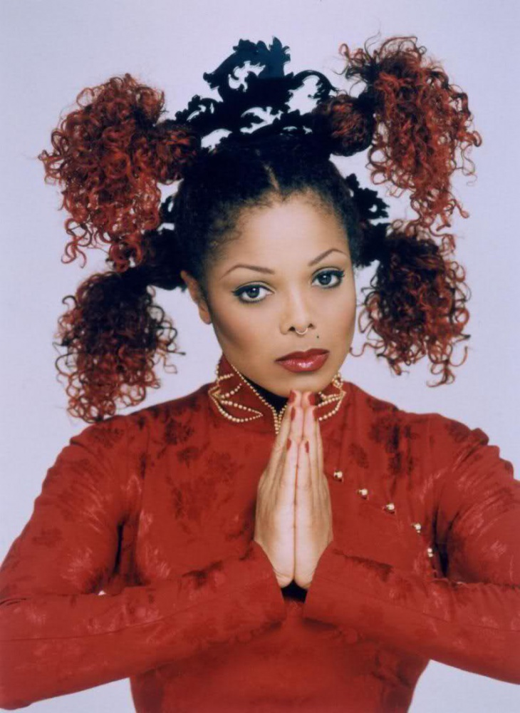 janet jackson Knots for Long Hair