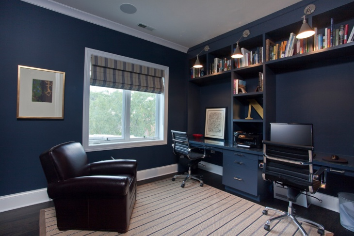 21+ Blue Home Office Designs, Decorating Ideas  Design  ~ 173143_office decorating ideas blue