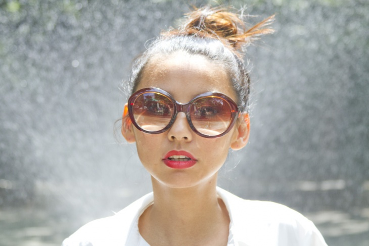 fashionable top knot bun style