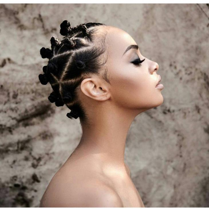 Bantu Knots for Short Hair