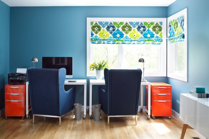 Double Desk Home Office Idea