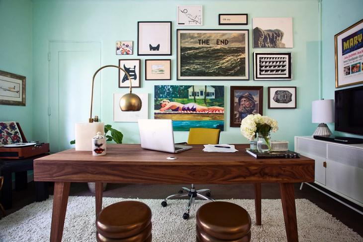 Minimalist Mid Century Office
