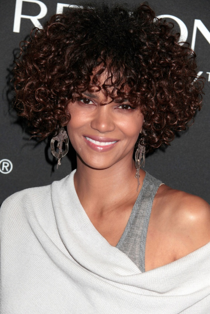 halle Berry Curly Weave Wig