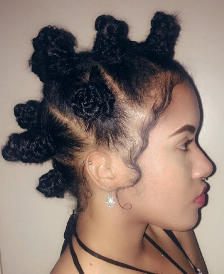 Bantu Knots for Curly Hair