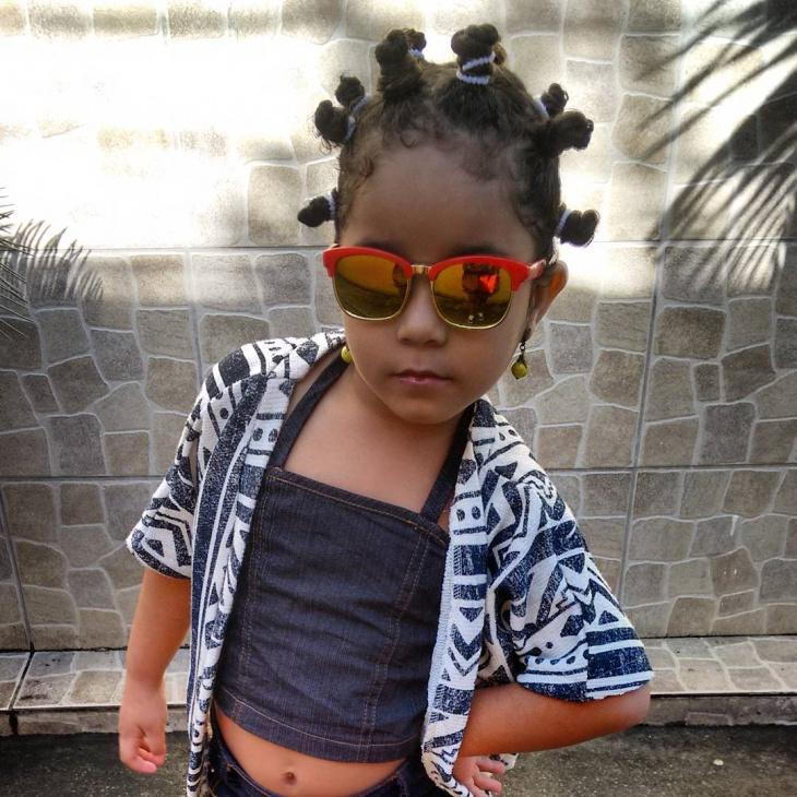 Kid's Bantu Hairstyle