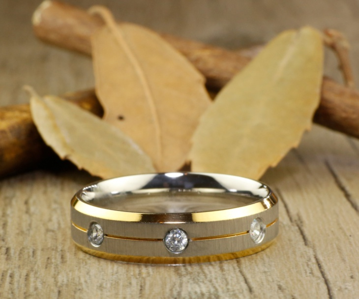 Titanium Handmade Gold Ring