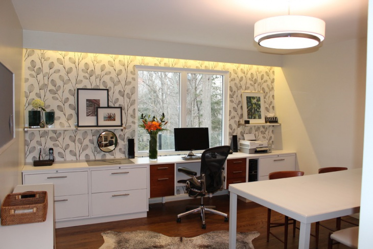 Decorative Wall Design Idea For Home Office