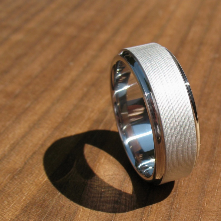 Titanium Silver Wedding Ring