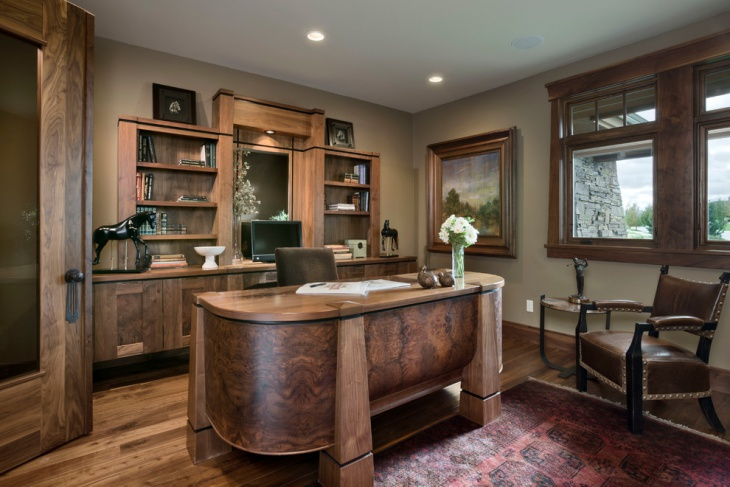 20 Rustic Home Office Designs Decorating Ideas Design