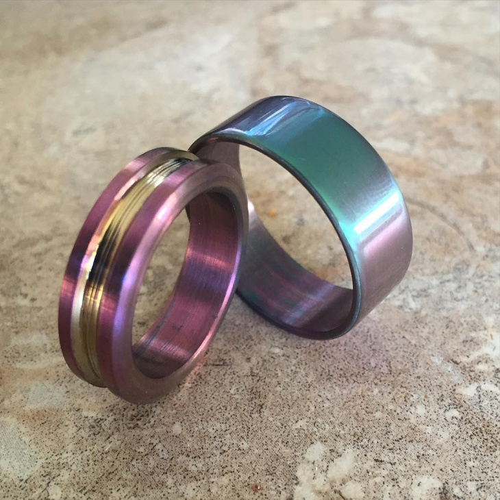 tricolor titanium ring