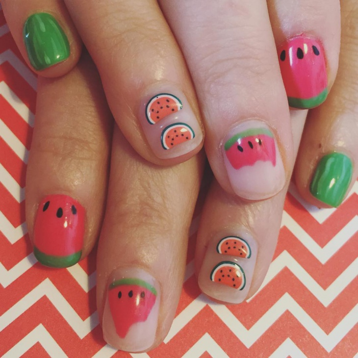 Lovely Nail Design for Short Nails