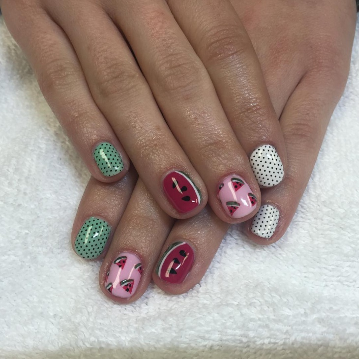 Simple Summer Nail Design Idea