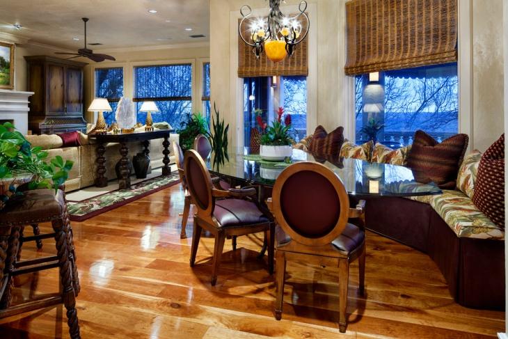 colorful and brightful mediterranean living room design