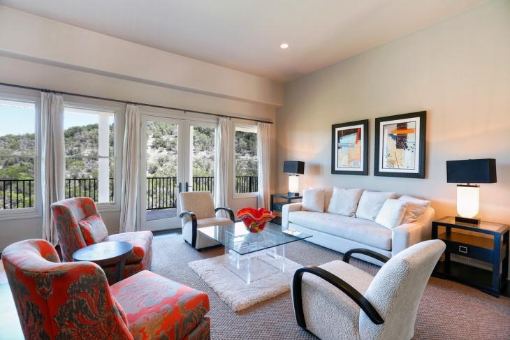 contemporary living room design with sofa set