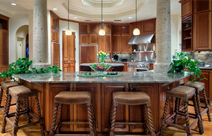 Kitchen Countertops Mediterranean Design