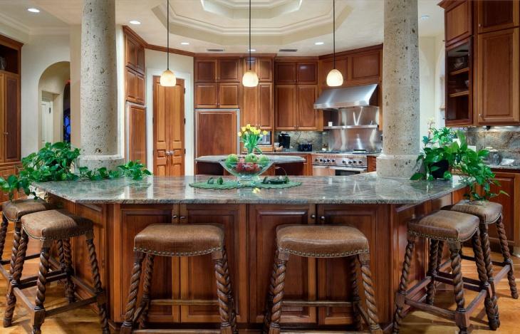 kitchen countertops mediterranean design