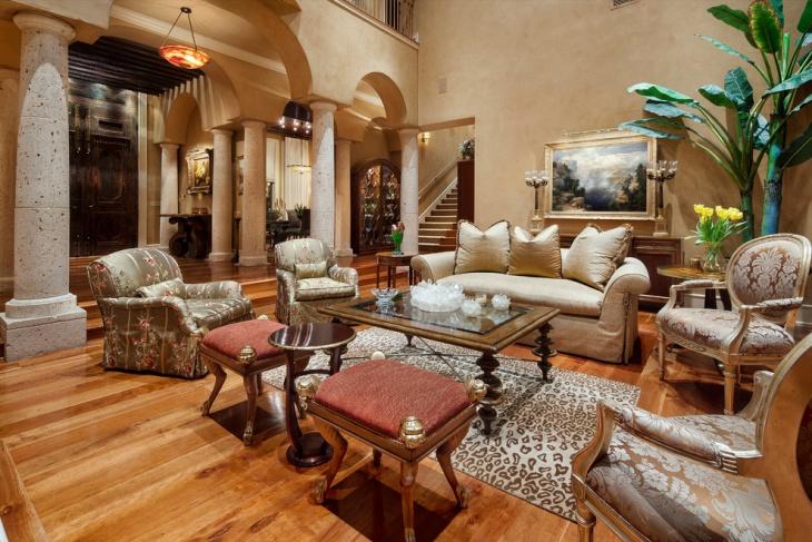 mediterranean living room design
