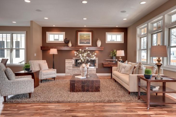 simple brown living room idea
