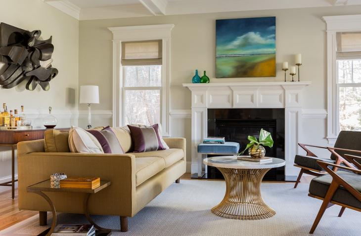 transitional decorative living room design