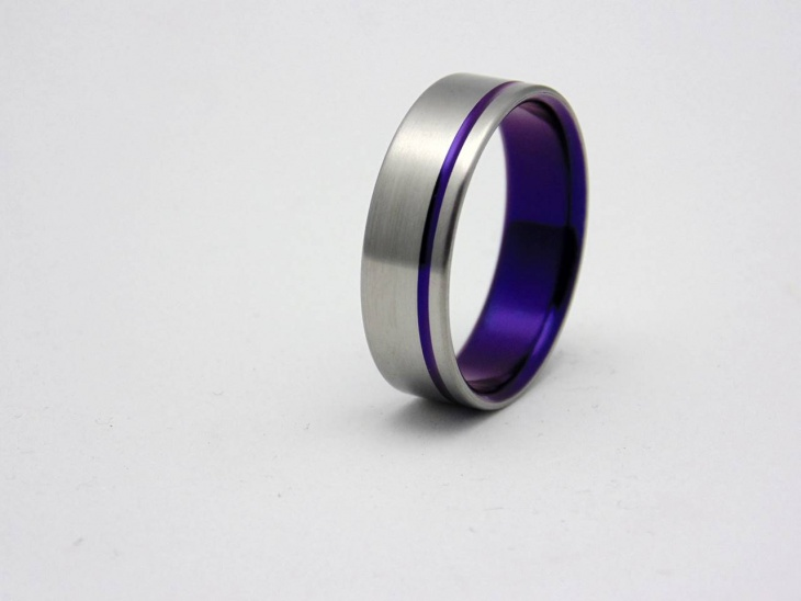 Blue Saphire Titanium Ring