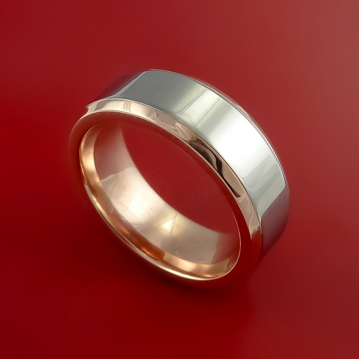 Classic Titanium Gold Wedding Ring
