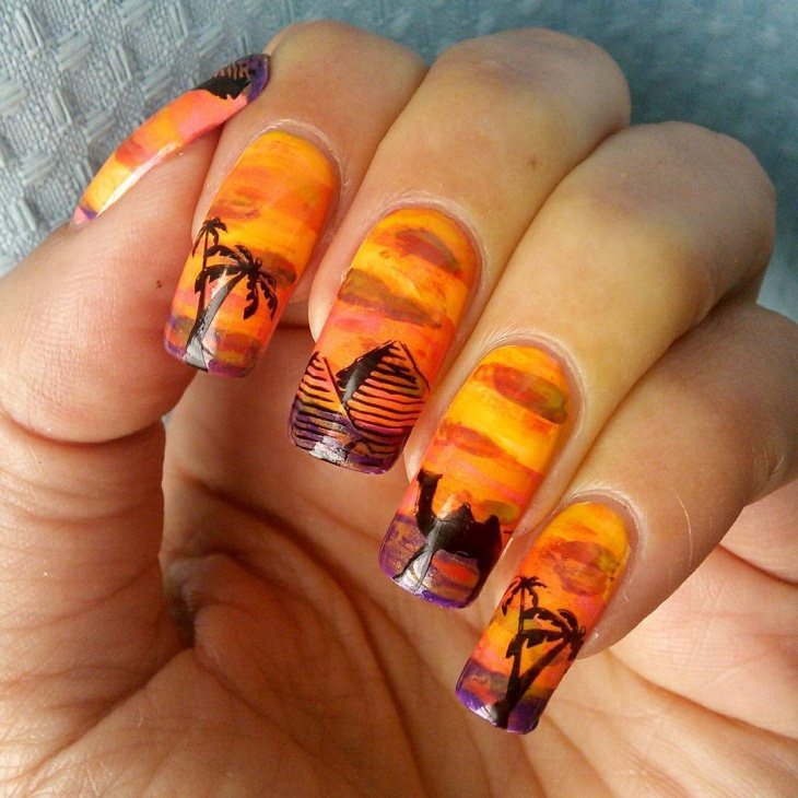 stunning themed nail art