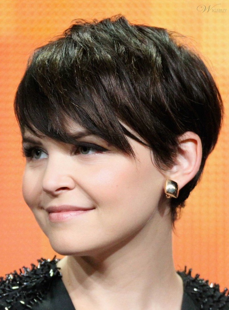 ginnifer goodwin choppy bob haircut