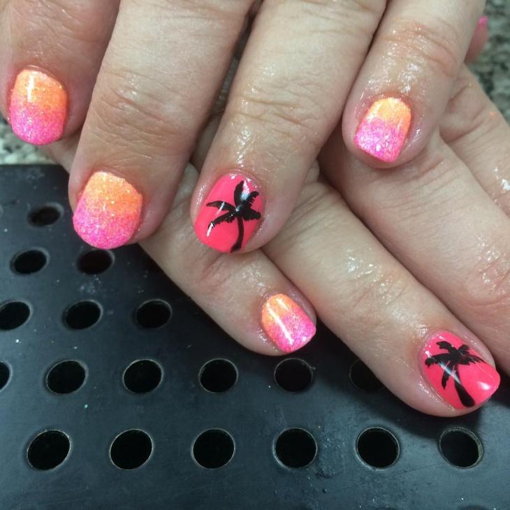sunset gradient nails