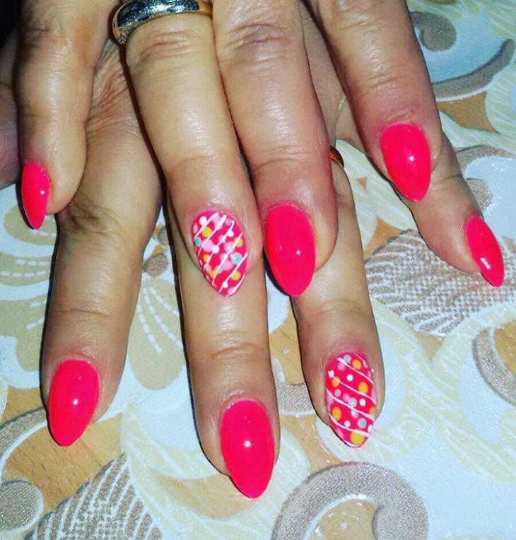 Cute Pink Nail Design